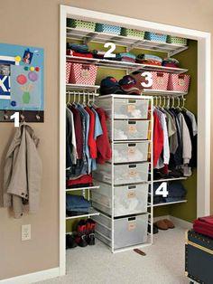 Home Sweet Home on a Budget:  Organizing Kids' Closets