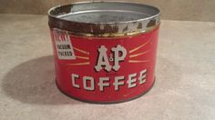 Vintage A&P Coffee Tin by 3LittleWitches on Etsy