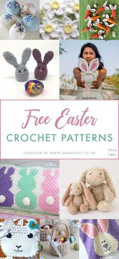 A roundup of my favourite free patterns to crochet this Easter. The roundup includes: patterns suitable for beginners and more experienced crocheters alike; quick patterns for your last minute Easter preparations; and a variety of patterns in both UK and US terminology. #easter #easterbunny #eastercrochet #freeeasterpattern #freepattern #freecrochetpattern #crochet #freecrochet