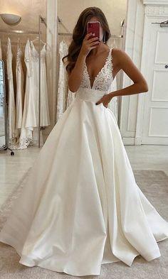 Top Wedding Dresses, Cute Wedding Dress, Wedding Dress Trends, Bridal Dresses, Wedding Gowns, Lace Wedding, Wedding Ideas, Affordable Wedding Dresses, Wedding Groom