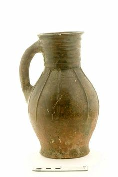 A20115: jug; baluster jug Production date: Early Medieval; late 12th-mid 13th century Measurements: H 283 mm; DM 175 mm