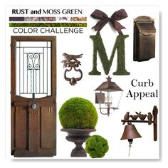 """""""Moss & Rust ~~ Curb Appeal"""" by drenise ❤ liked on Polyvore featuring interior, interiors, interior design, home, home decor, interior decorating, exterior, colorchallenge, homeset and CurbAppeal"""