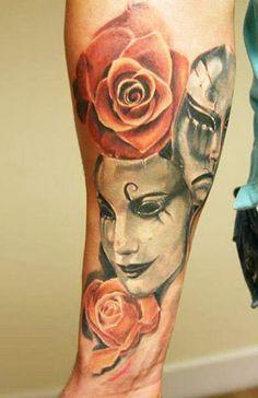 Realism Mask Tattoo by Robert Zyla - http://worldtattoosgallery.com/realism-mask-tattoo-by-robert-zyla-2/