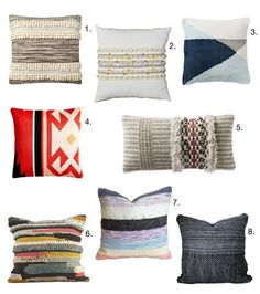 Easy Way to Add Texture: 8 Modern Woven Pillows