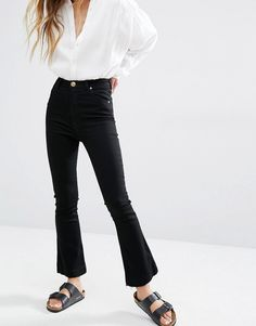 Rolla's+Eastcoast+High+Rise+Crop+Bootcut+Jeans