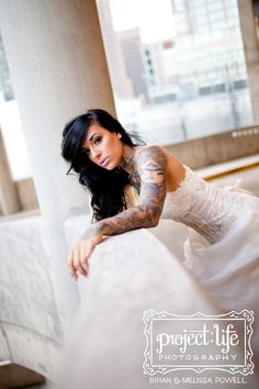 Styled shoot with beautifully-tattooed model, Emily Paige! I think tattoos with dresses is beautiful Tattoo Girls, Girl Tattoos, Sexy Tattoos, Sleeve Tattoos, Tattoo Sleeves, Tattoo Ink, Brides With Tattoos, Tattooed Brides, Tattooed Wedding