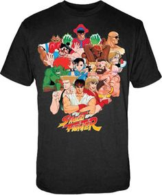 Street Fighter Characters Mens Shirt
