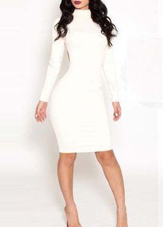 Novel Design Long Sleeve White Hollow Sheath Dress http://www.modlily.com/novel-design-long-sleeve-white-hollow-sheath-dress-g108587.html