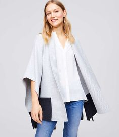 Shop LOFT for stylish women's clothing. You'll love our irresistible Colorblock Belted Poncho - shop LOFT.com today!