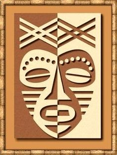 African Mask Positive /Negative Design