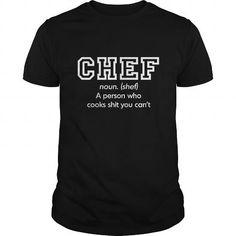 Chef T Shirts, Hoodies, Sweatshirts. CHECK PRICE ==► https://www.sunfrog.com/Jobs/Chef-137094676-Black-Guys.html?41382