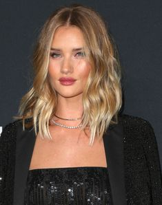 Best Celebrity Hairstyles to Copy | Rosie Huntington-Whiteley always has glossy cool-girl hair waves, no matter the length