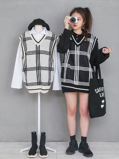 마리쉬♥패션 트렌드북! Vogue Fashion, Cute Fashion, Asian Fashion, Girl Fashion, Vintage Fashion, Fashion Outfits, Womens Fashion, Vintage Style, Ulzzang Fashion