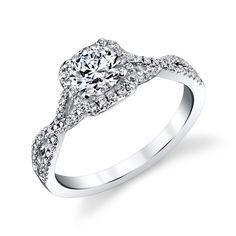 14k White Gold 3/4ct TDW Infinity Twist Round Diamond Engagement Ring (Size 7.5), Women's
