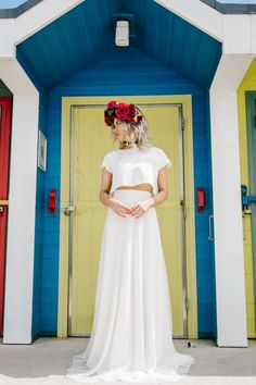 Our Barry Island Shoot On Bespoke Bride Bridal Shoot, Bridal Gowns, Wedding Trends, Wedding Blog, Wedding Bride, Wedding Engagement, Bridal Separates, Seaside Wedding, Wedding Inspiration