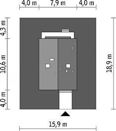 Usytuowanie projektu Murator EC256 Gładki (z wentylacją mech. i rekuperacją) na działce Lockers, Locker Storage, Cabinet, Furniture, Home Decor, Clothes Stand, Decoration Home, Room Decor, Closet