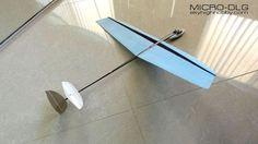 Micro DLG (discus launch glider) RC glider:
