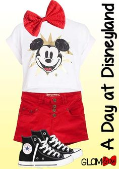 A perfect Disneyland Day outfit, complete with the Minnie's Bow from our Novelty Collection!