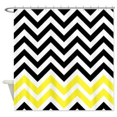 yellow and black bathroom accesories | > Black Chevrons Bathroom Accessories & Décor > black and yellow ...