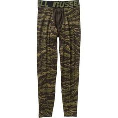 Russell Men's Cold Compression Pant, Size: Small, Green