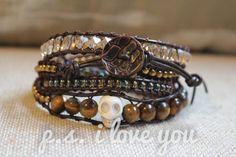 Leather Wrap Adjustable Bracelet 'PeekABoo' by PSiloveyouSHOP, $36.00