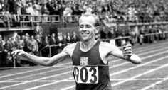 Czech runner Emil Zatopek died on this day in 2000.