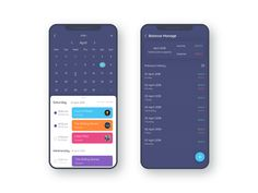 Schedule Management App Concept_White designed by TechCare. Web Design, App Ui Design, Interface Design, User Interface, Graphic Design, Mobile Application Design, Mobile Ui Design, Calender App, Schedule Design