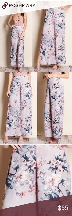 Arrives today! Wide Leg Floral Pants More information coming soon! Aluna Levi Pants Wide Leg