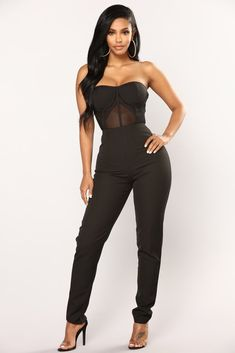 Walking On Air Jumpsuit - Black