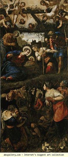 Jacopo Robusti, called Tintoretto with Domenico Tintoretto. Adoration of the Shepherds.