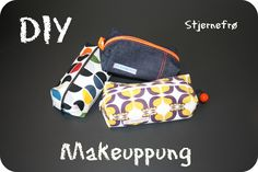 Make up pung diy Sewing Patterns Free, Sewing Tutorials, Sewing Projects, Sewing Diy, Sewing Ideas, Diy Bags Purses, Diy Purse, Diy Makeup Bag, Diy Wallet
