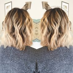 Rooty blonde // smudged root // lived in blonde // lived in color // warm blonde…