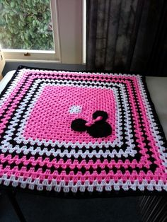 Minnie mouse baby blanket made by carol holt More