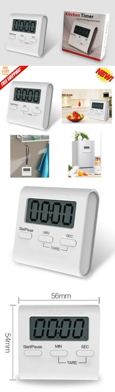 Timers 98852: Magnetic Lcd Digital Kitchen Timer Loud Alarm Count Down Egg Cooking Baking Usa -> BUY IT NOW ONLY: $100 on eBay!