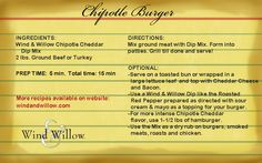 Wind & Willow Chipotle #Cheddar #Burger Recipe