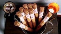Tubes à chocolat chaud