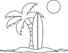Image result for surfboard clip art b&w