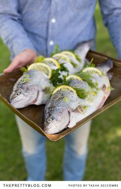 grilled trout stuffed with lemon fennel herbs whole grilled trout ...