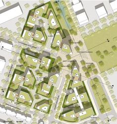 ein 4. Preis: Lageplan, © GTL Landschaftsarchitekten #LandscapeMasterplan