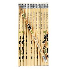 Personalized Camouflage Pencils - OrientalTrading.com CRod would love this for next year.