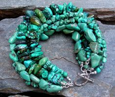 Mia Bella Collection: turquoise & sterling silver, $150  One of my all time favorite bracelets!
