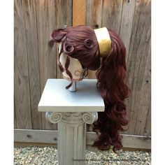 Megara Hercules Massive Wig Grecian Princess Quality Custom Couture... ($450) ❤ liked on Polyvore featuring hair