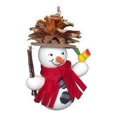 cool Christian Ulbricht Ornament - Snowman Wearing Pinecone HatChristian Ulbricht Ornament - Snowman Wearing Pinecone Hat - 3.5H X 3W X 2D