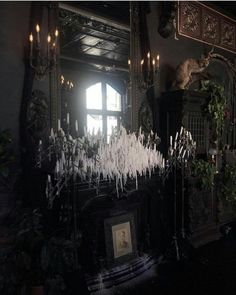 gothic home decor Dangerous Furniture For Witchy Apartment Decorating 37 Home Sweet Hell, Gothic Interior, Interior Design, Gothic Bedroom, Goth Home Decor, Witch House, Spooky House, Halloween House, Dark Interiors