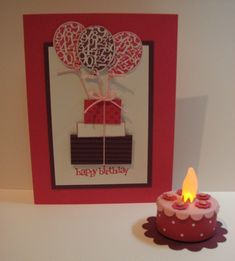 MUST Make instead of b-day card! Tea light and a few flower punches...LOVE!