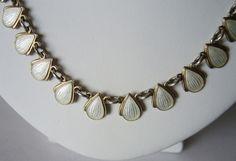 VB white guilloche enamel necklace by Volmer Bahner. Enamel Jewelry, Heart Charm, Scandinavian, Charmed, Bracelets, Silver, Vintage, Vintage Comics, Bracelet