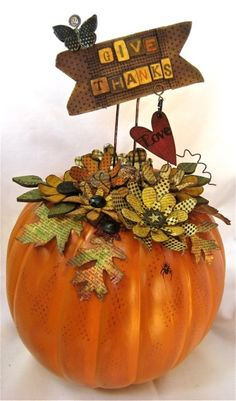 instruction to make this adorable pumpkin by http://studio490art.blogspot.com