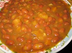 These beans are a staple in my familys nutrition. I make them at least once a week, and as with beans they taste better the next day so I make plenty for left overs. You will need a pressure cooker for this one.