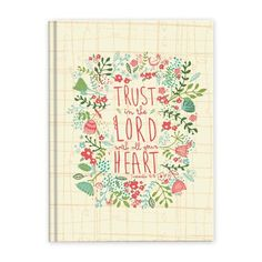 Casebound Scripture Journal, Trust in The Lord With All Your Heart #books #journals #diaries #journaling #prayer #accessories #home #decor #homedecor #inspiration #faith #brownlowgifts #brownlow