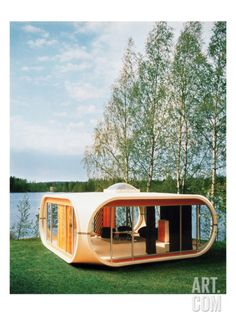 Container House Discover Prototype Of Polykem Molded House by John Cowan Container Home Designs, Container Homes, Tiny House Cabin, Tiny House Design, Futuristic Home, Unusual Homes, Facade Architecture, Sustainable Architecture, Residential Architecture